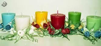 Casa ignoli: candele con coroncine di rose