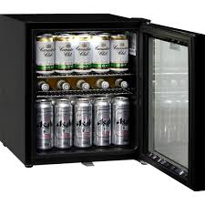 glass door black bar fridge low e glass to prevent condensation