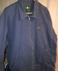 details about vintage 90 s hunt club jcpenney men s denim logo jean jacket full zip size l