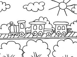 Almost half of world's freight cargo is transported by trains. Free Easy To Print Train Coloring Pages Tulamama