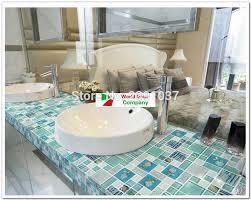 1box 11sheets brand new blue and cyan glass mosaic tiles iridescent bathroom porcelain tiles sheet kitchen backsplash