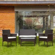 evre rattan garden furniture set patio