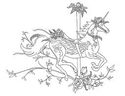 Small Picture Carousel Horse Printable Coloring Page Book Unicorn Horse