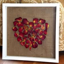 Dried Rose Petal Shadow Box