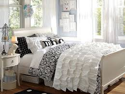 View in gallery Black and white floral damask bedding