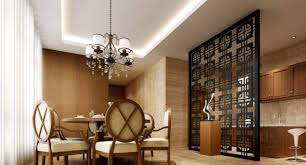 lighting for small spaces. Chandelier With Dining Set And Tiled Accent Walls Also Interior Partition Wall Ideas Cove Lighting For Small Spaces S