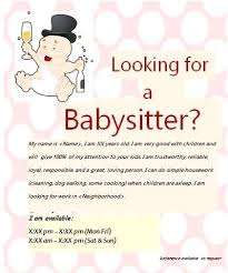 Babysitting Flyer Template Microsoft Word Free Babysitting Template Dealsoftheday Info