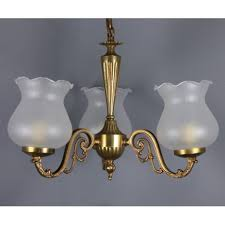 vintage french chandelier 3 light opalin lamp shade