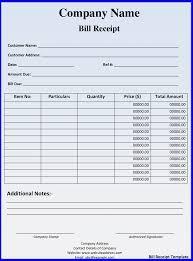 Hotel Bill Format In Doc 15 Sweep18 Receipt Template