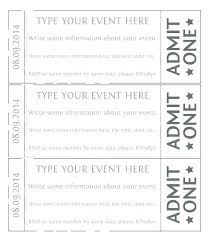 Ticket Sheet Template Free Word Printable Event Tickets