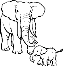 Circus Elephant Colouring Pages Kats Elephant Coloring Page