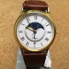 vintage citizen 2870 mens moon phase day date quartz watch hours vintage citizen 2870 mens moon phase day date