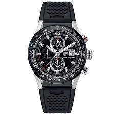 tag heuer watches from berry s jewellers official stockist carrera heuer 01 automatic chronograph men s rubber strap watch