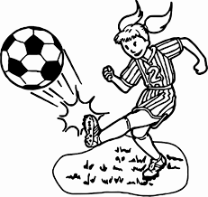 Girl Playing Soccer Coloring Pages At Getdrawingscom Free For