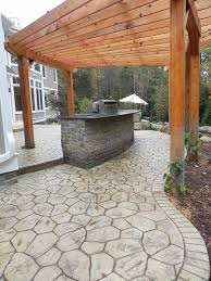 white natural stone stamped concrete surroundings poured concrete patio natural looking r79 patio