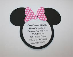 minnie mouse ears invitation template homemade minnie mouse invitations