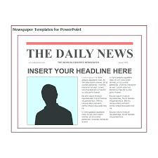 Journalistic Writing A Newspaper Article Template Ks2 Amazing