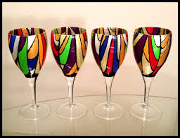 hand painted holiday wine glasses hand painted wine glasses 60th birthday hand painted wine