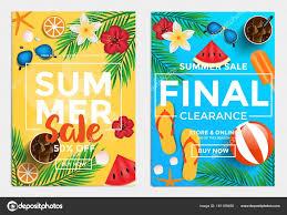 sale flyers sale and discount flyers summer sale stock vector darkovujic