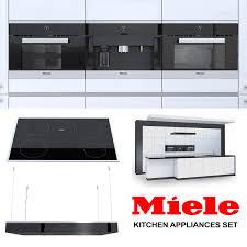 set miele kitchen appliances 3d model