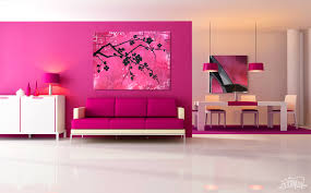 Interior Decoration Modern Pink Living Room Display Beautiful Home - Beautiful houses interior design