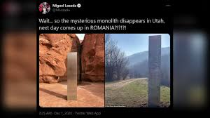 Mysterious monolith surfaces in ROMANIA ...