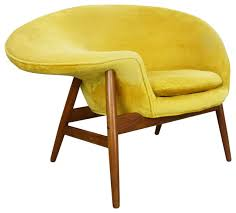 fried egg chair by consigned fried egg chair hans midcentury