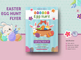Easter Egg Hunt Invitation Template By Mukhlasur Rahman On