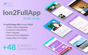 3 Templates Ion2fullapp Elite The Most Complete Ionic 3 Starter App