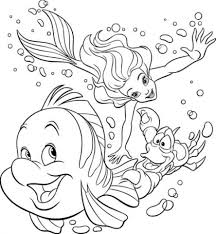 Little Mermaid Printable Coloring Pages 28 Collection Of Happy