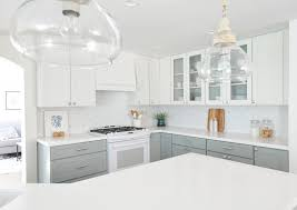 Professional Painting Kitchen Cabinets Best Centsational Remodel Features White Gray Kitchen Cabinets