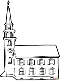 Small Picture Little Church With Tower coloring page Free Printable Coloring Pages