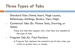 type of tab microsoft office word ppt download