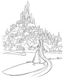 Small Picture Tangled Coloring Pages Coloring Kids