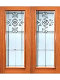 beveled glass exterior doors front houston