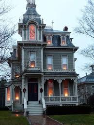 Victorian mansion with extensive white trim and large brick front gate in dunedin, new zealand. Someone Please Buy Me This Awesome Gothic House Victorian Homes Gothic House Victorian Style Homes