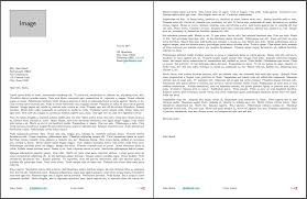 Two Page Cover Letters Two Page Cover Letter Format Two Page Business Letter