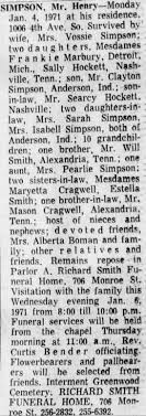Obituary for Henry SIMPSON - Newspapers.com