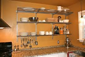 Small Picture Kitchen Wire Wall Mounted Kitchen Shelves With Fixed Bracket