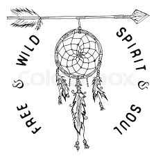 Dream Catcher With Birds Gorgeous Dream Catcher And Arrow Tribal Legend In Indian Style Traditional