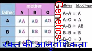 parent blood types chart hereditary of blood determination of blood group from parents to