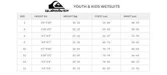 Quiksilver Boys 8 16 Syncro 4 3mm Lfs Chest Zip Steamer Wetsuit