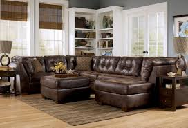 Leather Sectional Living Room Incredible Living Room Furniture Ideas With Comfortable Bronze And