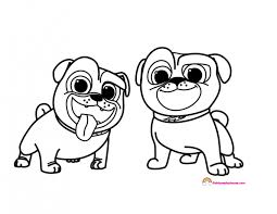 Disneys Puppy Dog Pals Bingo And Rolly Coloring Page Rainbow