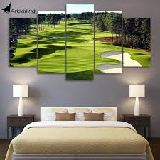 wall art canvas print canvas print 5 pieces paintings golf course wall art canvas pictures for wall art  on golf wall art canada with wall art canvas print 3 piece scenic art prints wall art with led