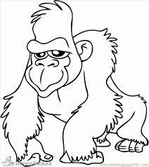 Kleurplaten Gorilla Kleurplaten Kleurplaatnl
