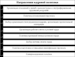 Стратегическое планирование и управление персоналом Реферат  Основное направление кадровой стратегии