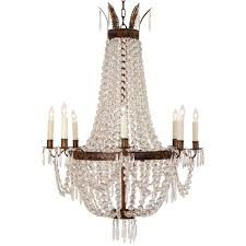 ceiling lights phenomenal chrome beautiful french empire crystal and bronze chandelier at 1stdibs pertaining to
