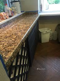 this dated granite countertop looks