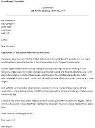 Sample Cover Letter For Recruitment Agency Cover Letter Recruitment Agency Template 15 Best Sample
